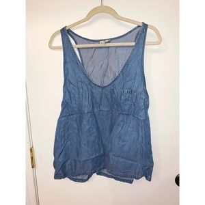 JOIE DENIM TANK TOP SIZE L